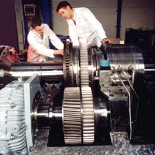 A large SSS Turning Gear Clutch (pinion type) incorporated in a package with a 140MW SSS Clutch in a Gas Turbine generator set.